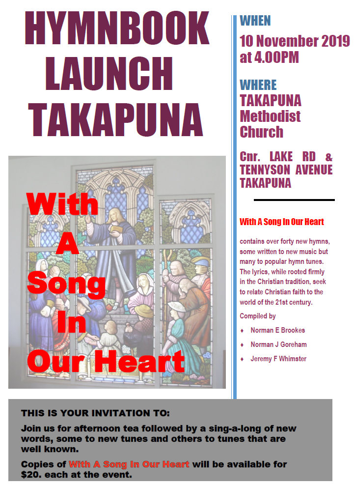 Launch of new hymnbook.